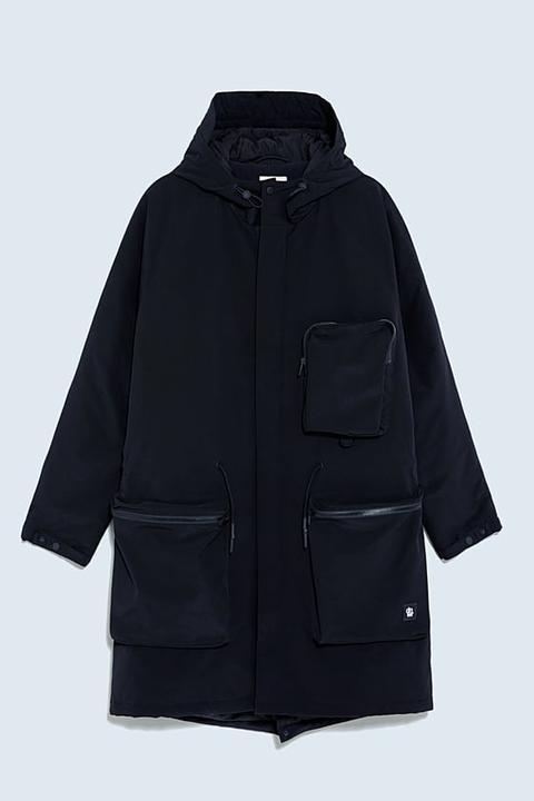 Parka Acolchada Utility de Zara en 21 Buttons