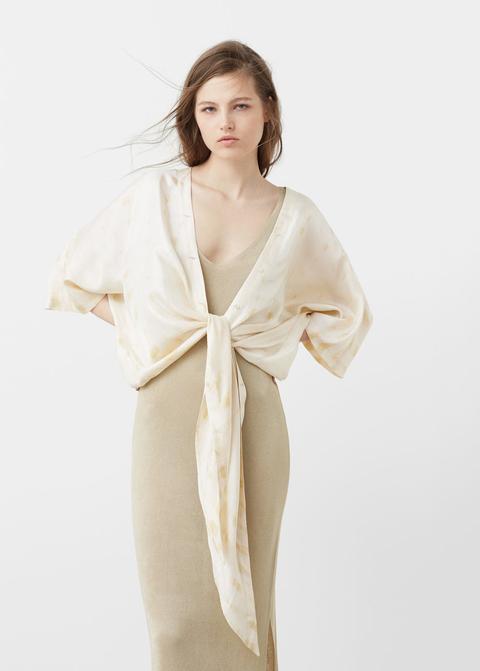Premium - Blusa Seda Cruzada