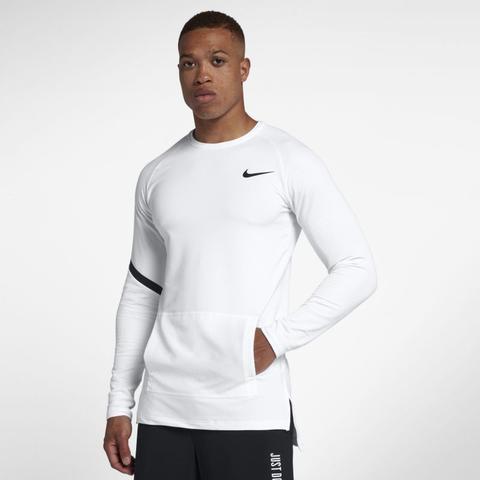 Maglia A Manica Lunga Nike Pro Modern Uomo Bianco from Nike on 21 Buttons