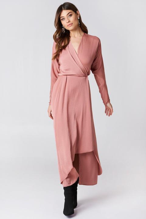 Drapey Wrap Dress Pink