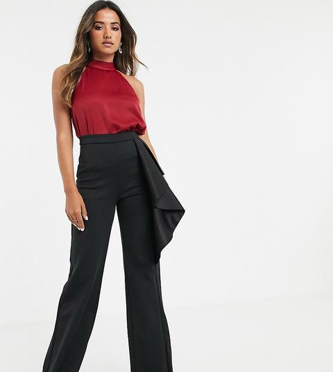 Pantalones Negros De Pernera Ancha De Talle Alto Exclusivos De True Violet de ASOS en 21 Buttons