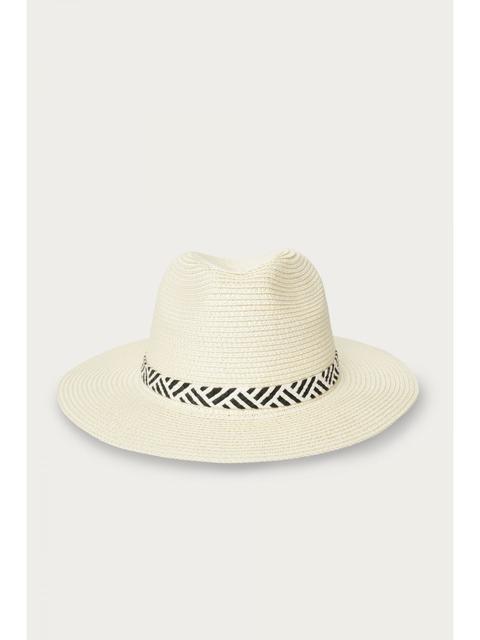 Cream Trilby Straw Hat