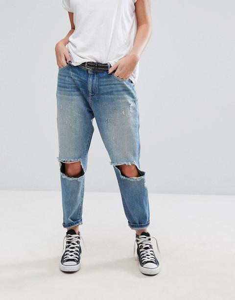 im Angebot moderner Stil neue angebote Only - Boyfriend Jeans Molto Invecchiati - Blu from ASOS on 21 Buttons