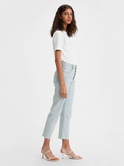 501® Crop Jeans Azul / Bleached Sand