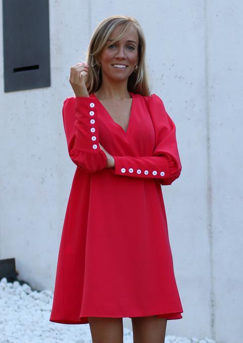 Vestido Lily Rojo-coral