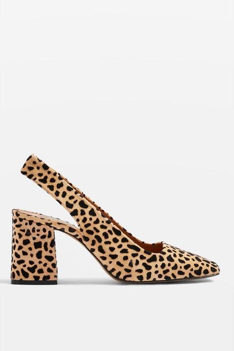 Gainor Leopard Print Slingback Shoes