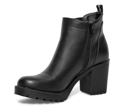 Talon from Buttons Noir Cranté Boots on Eram À 21 MqUzpVLSG