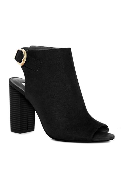 Black Peep Toe Block Heel from Primark