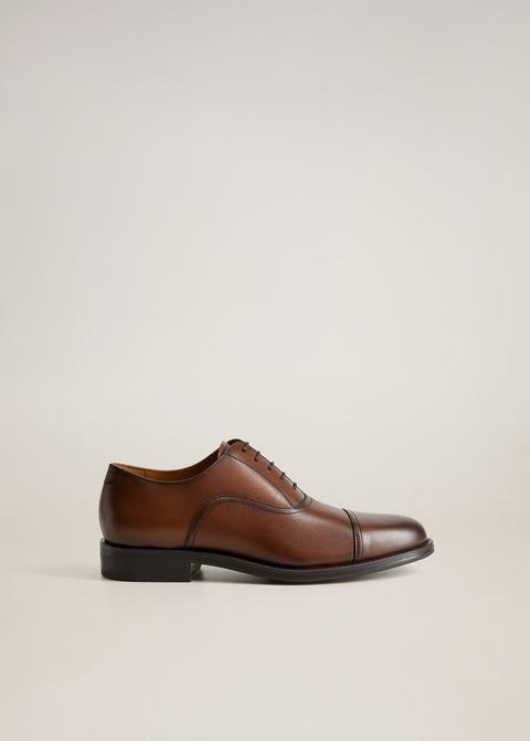 Zapato Oxford Piel Pespuntes de Mango en 21 Buttons