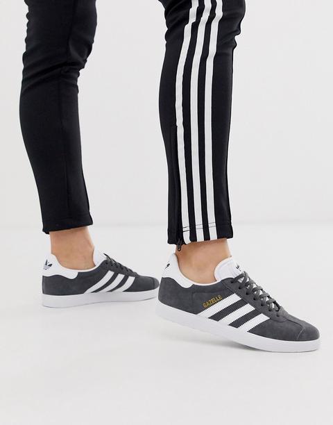 Zapatillas En Gris Y Blanco Gazelle De Adidas Originals