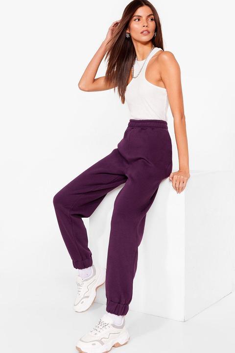 Womens Pantalon De Jogging Taille Haute La Suite Au Prochain Epi-jogg - Violet - 42, Violet