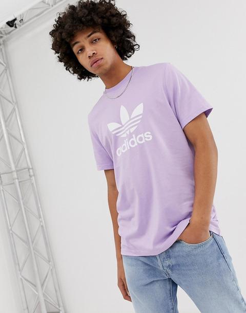 Logo Avec From Shirt Originals T Adidas Buttons Trèfle Violet Asos On 21 yvN8nOm0w
