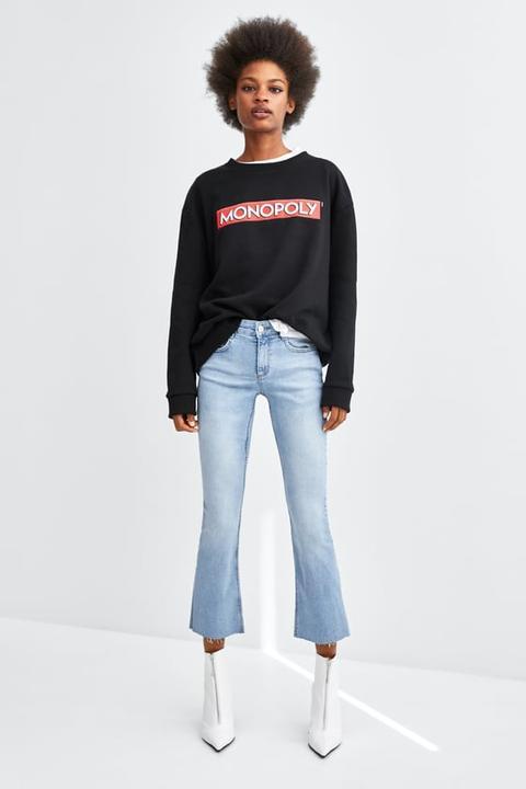 Jeans Mide-rise Mini Flare