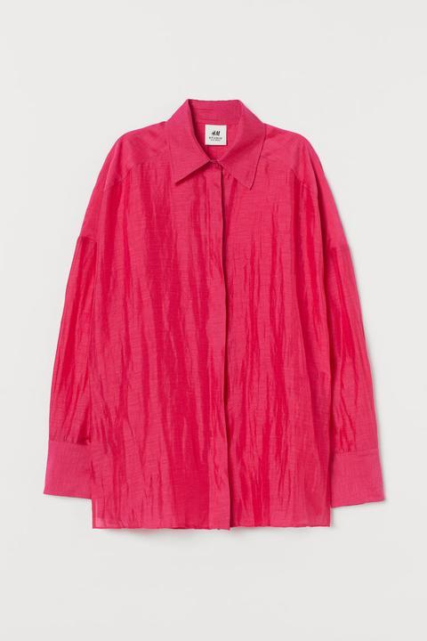 Camisa Oversize - Rosa de H&M en 21 Buttons