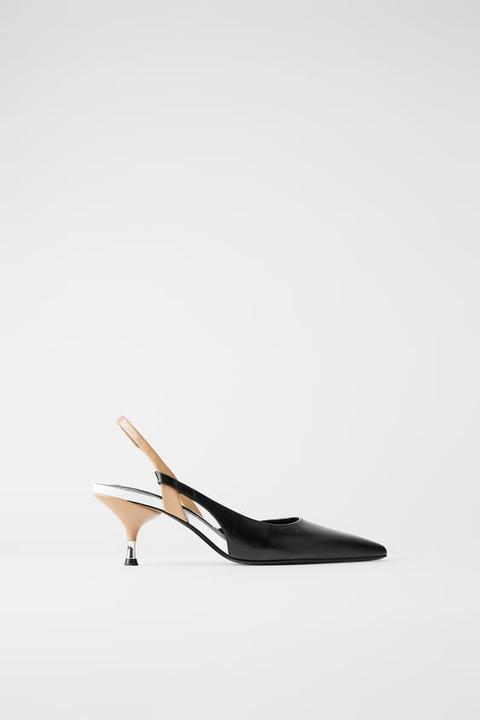 Zapato Tacón Mechón Destalonado