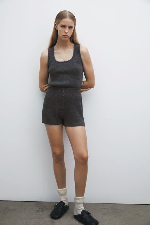 Shorts Canalé Con Lana