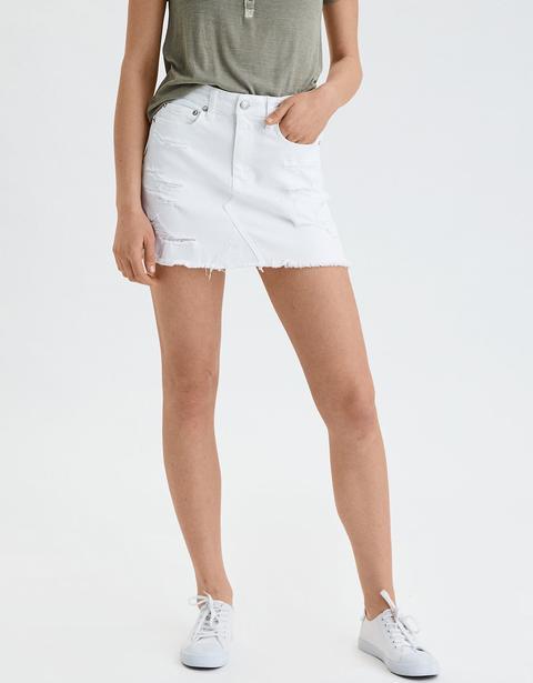 Ae High-waisted Festival Denim Skirt