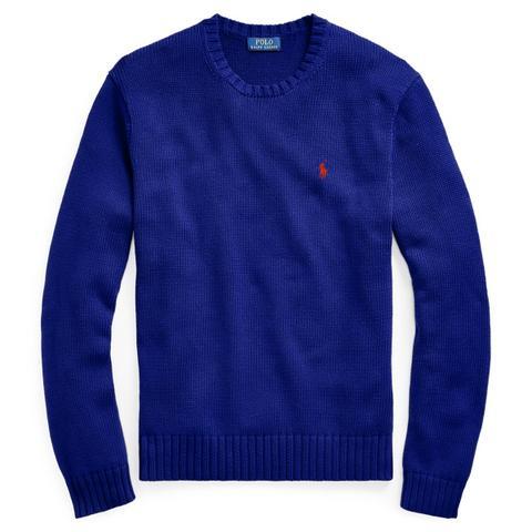 Jersey De Algodón De Cuello Redondo de Ralph Lauren en 21 Buttons