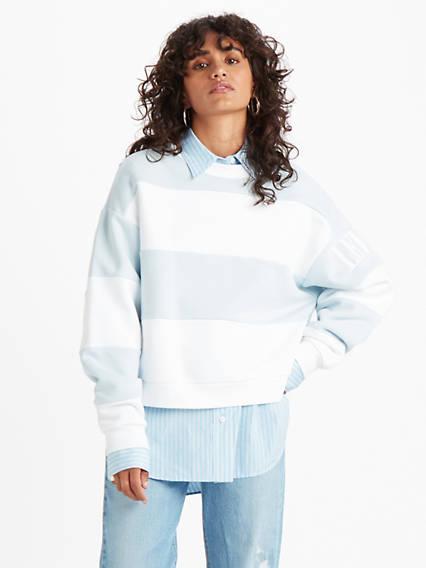 Diana Crew Sweatshirt Azul / Haley Baby Blue/white de Levi's en 21 Buttons
