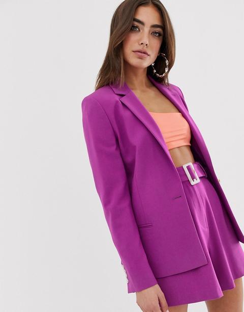 Blazer De Traje En Violeta Forever De Asos Design de ASOS en 21 Buttons
