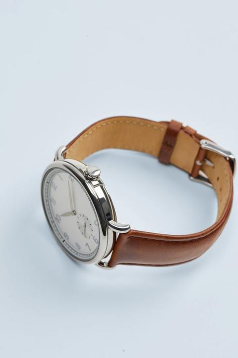 Reloj Look Vintage Pulsera Piel Marrón