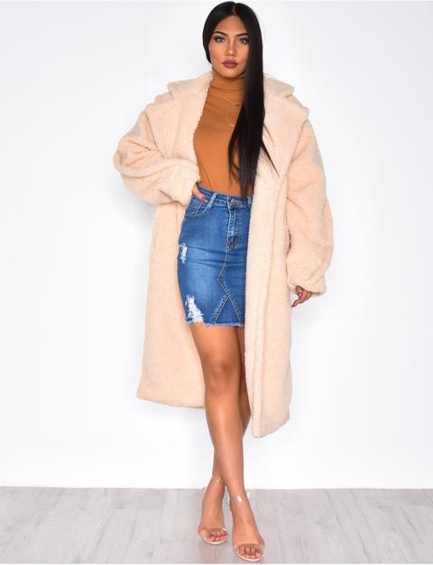 Long manteau oversize