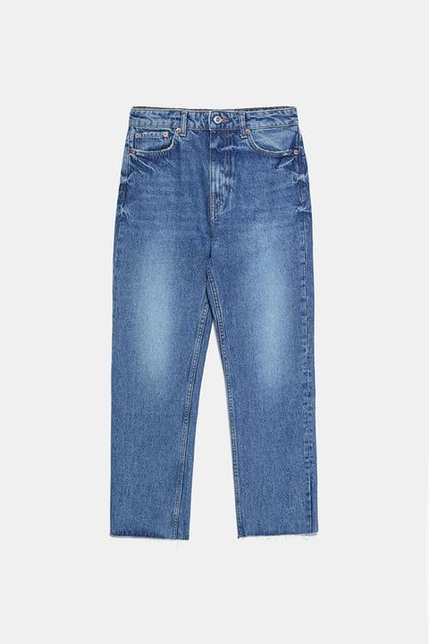 Jeans Zw Premium Ankle Straight True Blue