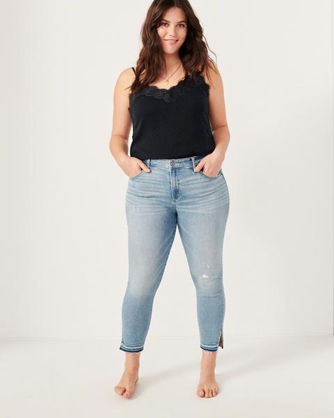 Jeans Tobilleros De Tiro Alto