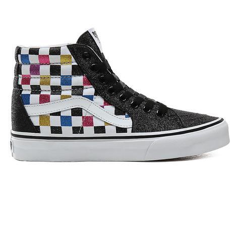 Vans Zapatillas Glitter Checkerboard Sk8-hi ((glitter Checkerboard) Black/true White) Mujer Negro de Vans en 21 Buttons