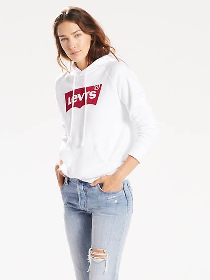 Levi's® Logo Sport Hoodie Blanco / White de Levi's en 21 Buttons