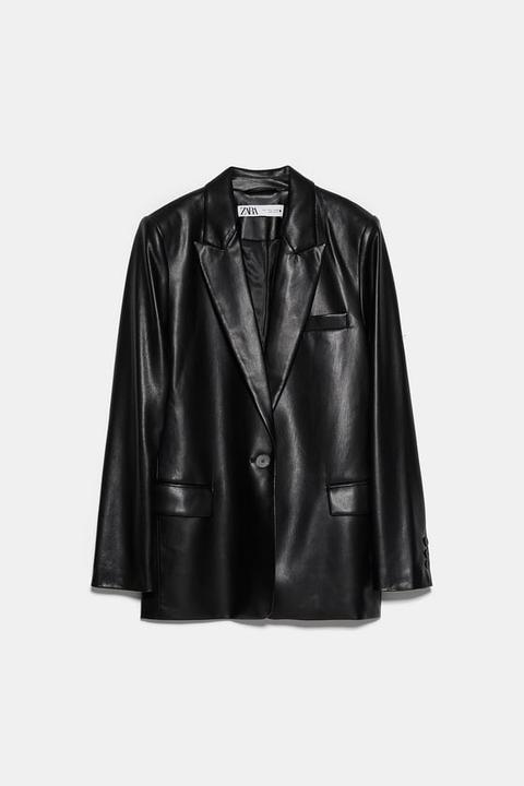 Blazer Efecto Piel de Zara en 21 Buttons
