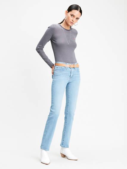 314™ Shaping Straight Jeans Azul / Berlin Summer de Levi's en 21 Buttons