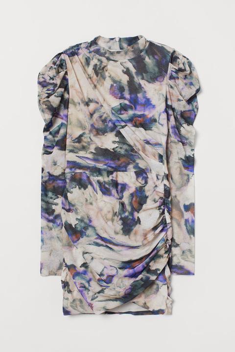 Vestido Drapeado - Púrpura