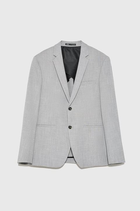 Blazer Da Completo Struttura Elasticizzata de Zara en 21 Buttons