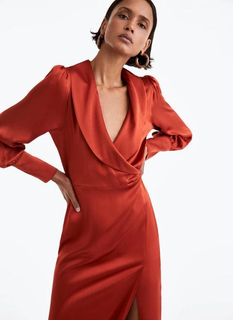 Vestido Solapa de Uterqüe en 21 Buttons