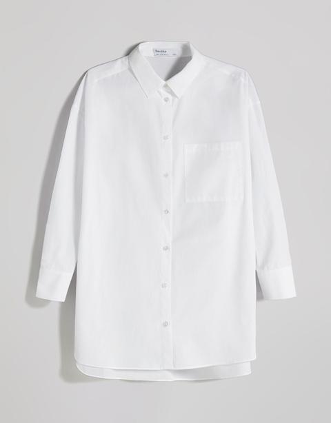 Camisa Manga Larga Popelin Oversize