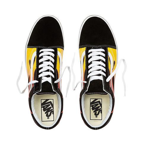 Vans Zapatillas Flame Old Skool ((flame) Black/black/true White) Hombre Negro