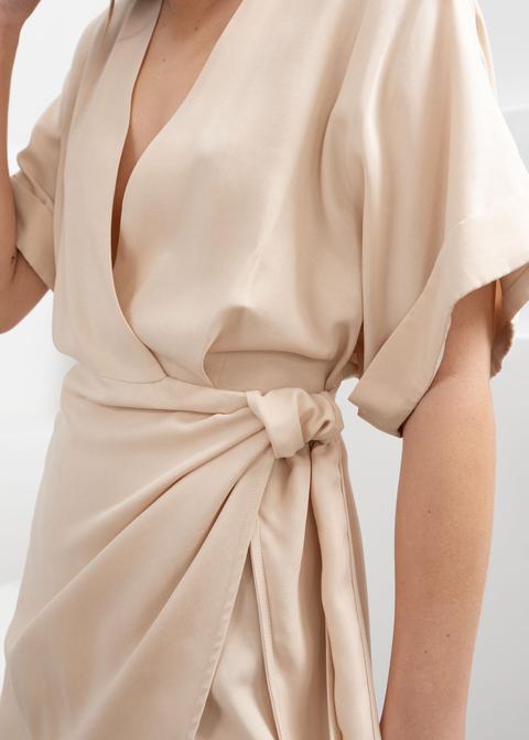 Kimono Wrap Mini Dress de And Other Stories en 21 Buttons