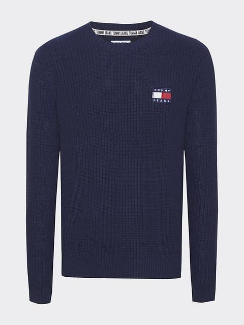 Jersey De Punto Elástico Con Insignia De Tommy Jeans de Tommy Hilfiger en 21 Buttons