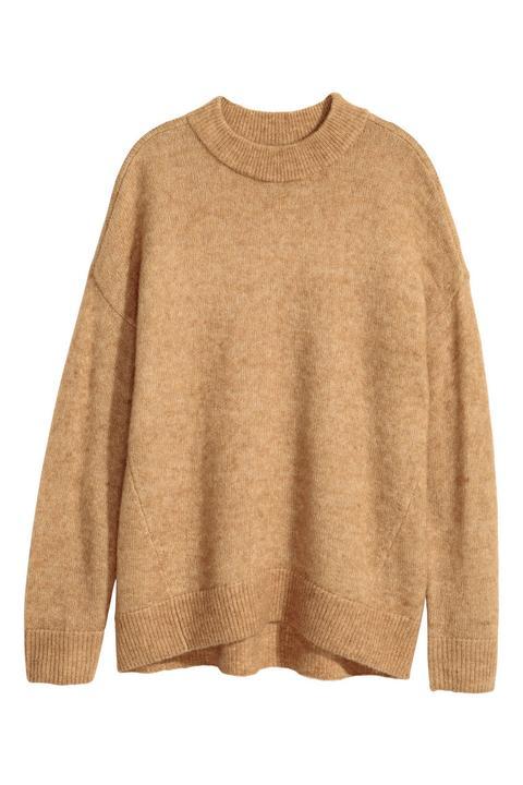 brand new 09829 a0301 Pullover Aus Mohairmix - Beige - Damen from H&M on 21 Buttons