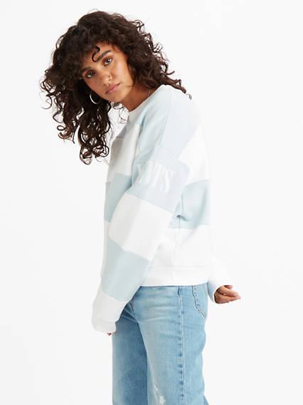 Diana Crew Sweatshirt Multicolor / Blue + White