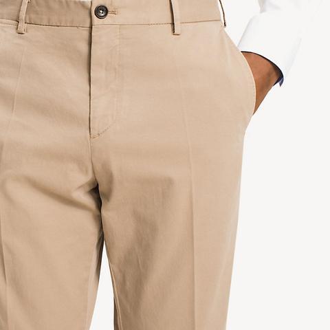 Pantalones De Sarga De Algodón