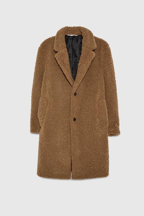 Abrigo Textura Borreguillo de Zara en 21 Buttons