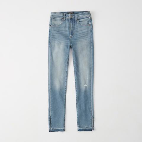 Jeans Tobilleros De Tiro Alto de Abercrombie & Fitch en 21 Buttons