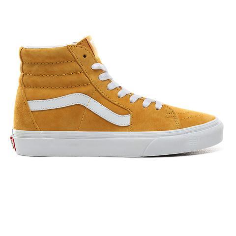 Vans Zapatillas Sk8-hi De Ante De Cerdo ((pig Suede) Mango Mojito/true White) Mujer Amarillo de Vans en 21 Buttons