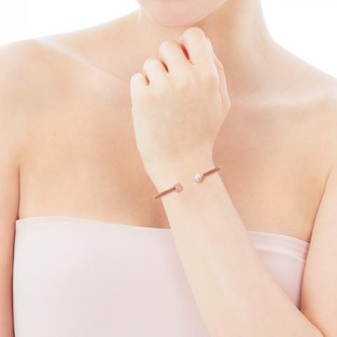 Pulsera Icon Mesh De Acero Y Plata Vermeil Rosa Con Perla de Tous en 21 Buttons