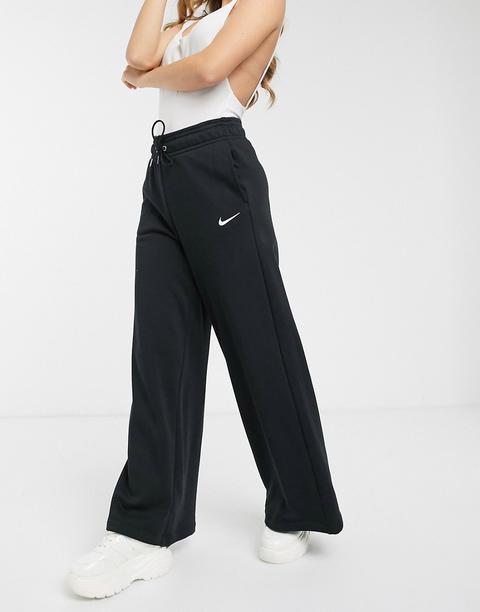 Nike Black Wide Leg High Waist Joggers