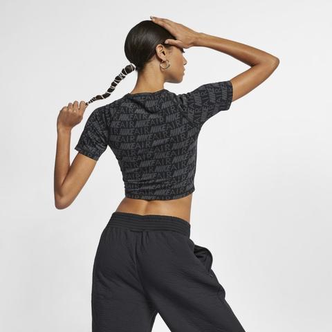 Nike Air Camiseta De Manga Corta Con Estampado Mujer Negro de Nike en 21 Buttons