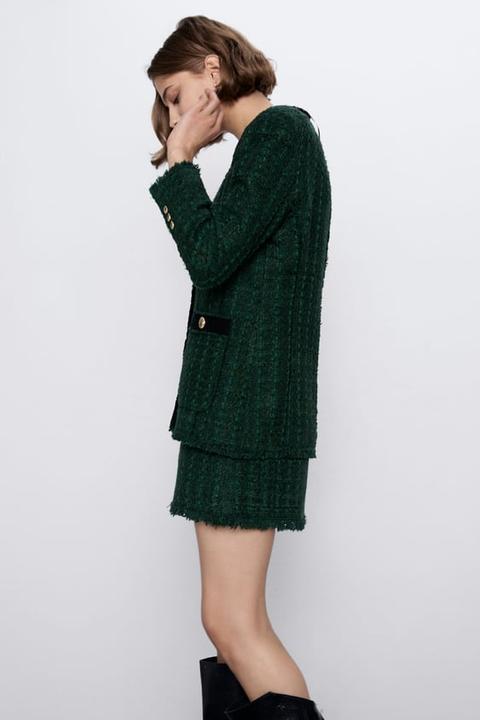 Chaqueta Tweed Combinada