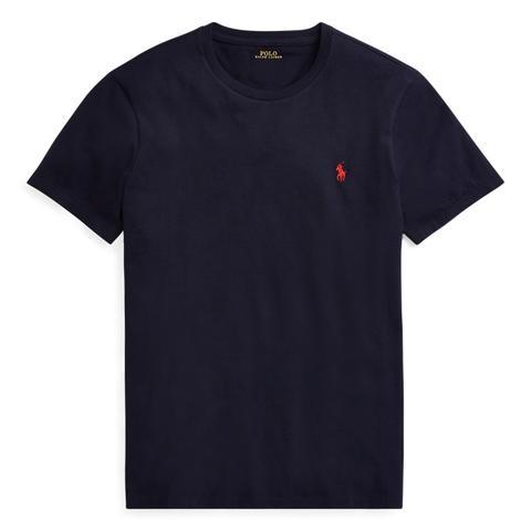 Camiseta De Algodón Custom Slim Fit de Ralph Lauren en 21 Buttons